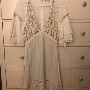 For love & lemons white dress size small